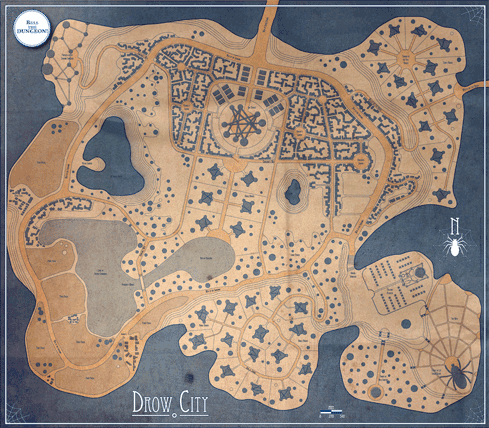 Drow City poster map